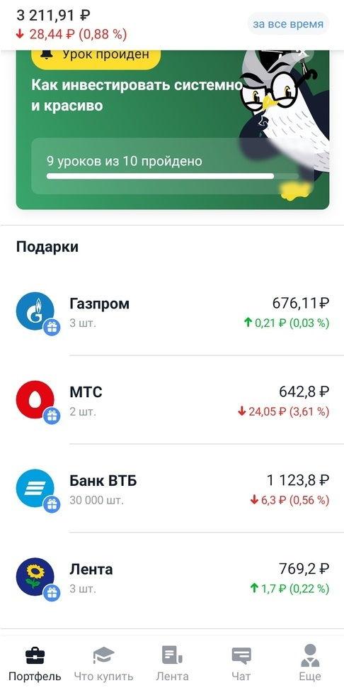 Подарочные акции Тинькофф Инвестиции